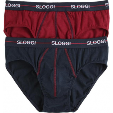 Start Midi Brief 2 Pack Red/Navy