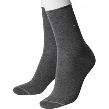 1 Pair Pack Plain Socks - Mid Grey