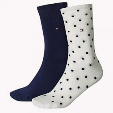 2 Pack Spotted Socks - Tommy Classic