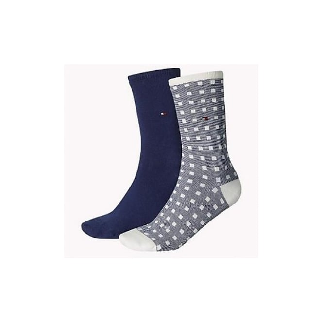 Tommy Hilfiger 2 Pack Squares Socks - Tommy Classic
