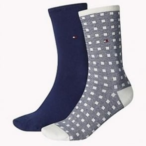 d1cafc353 Tommy Hilfiger 2 Pack Womens Striped Socks - Midnight Blue | Utility ...