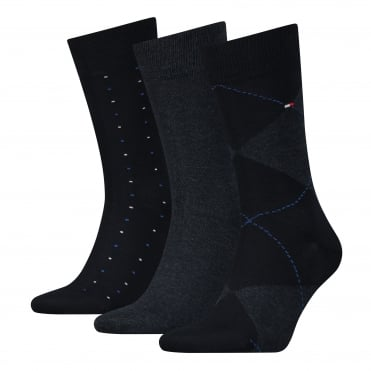 3-Pack Dark Navy Socks Gift Set