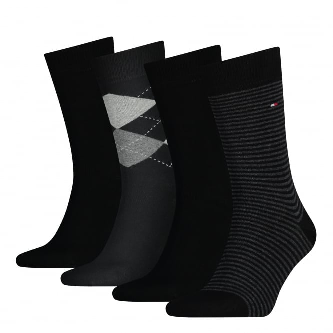 Tommy Hilfiger 4-Pack Black Socks Gift Set