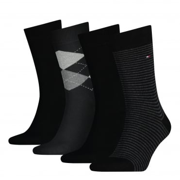 4-Pack Black Socks Gift Set