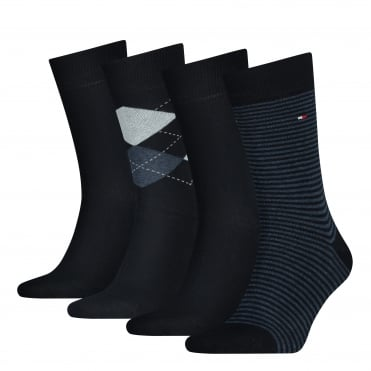 4-Pack Dark Navy Socks Gift Set