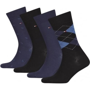 AW16 4-Pack Dark Navy Sock Gift Set