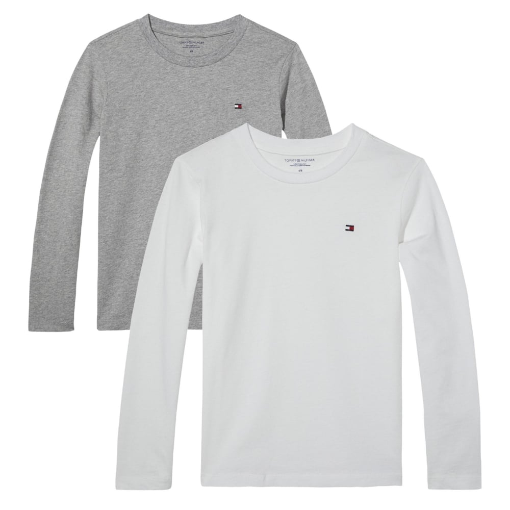 Tommy HilfigerBoys 2 pack Crew Neck Long Sleeve icon - White Grey ... 7b120161de
