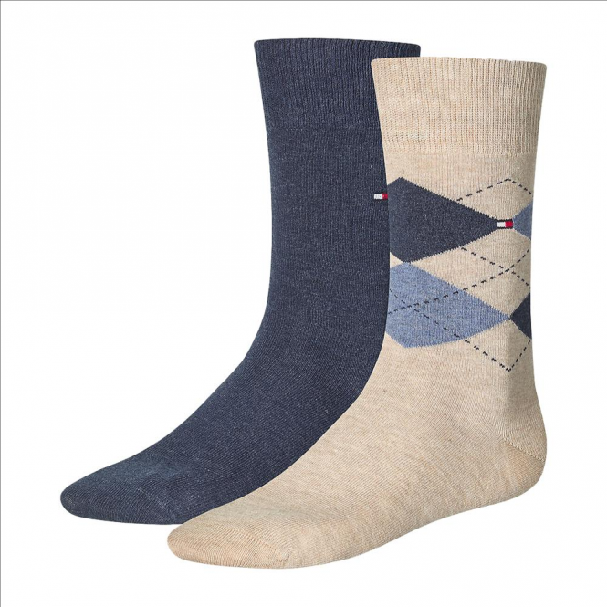 Tommy Hilfiger Check Socks 2-Pack Mid Summer