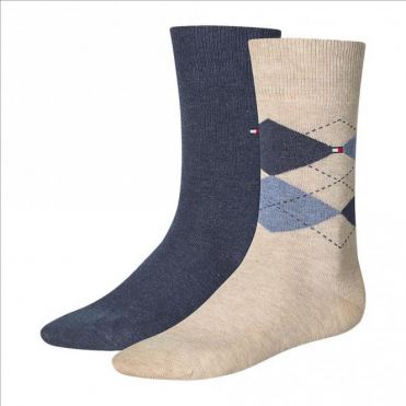 Check Socks 2-Pack Mid Summer