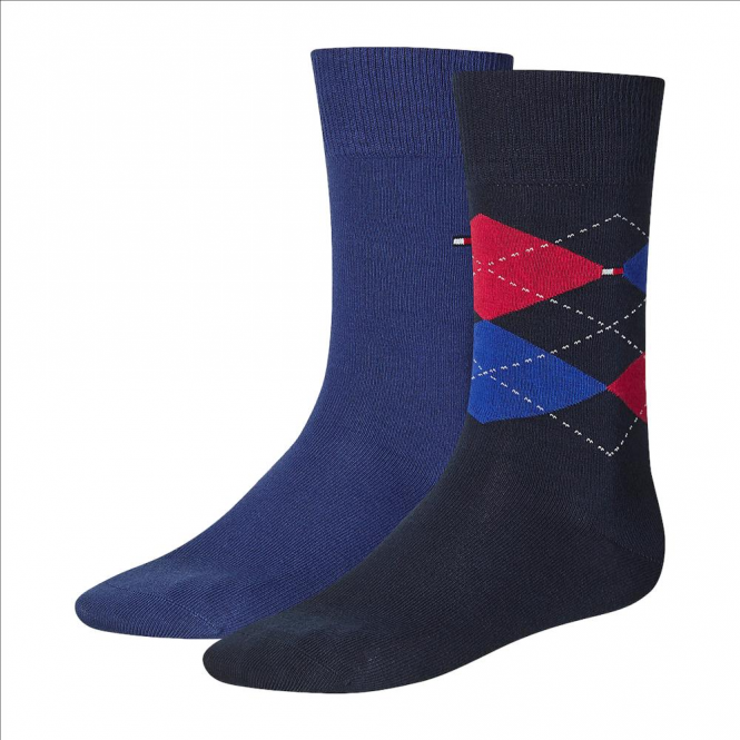 Tommy Hilfiger Check Socks 2-Pack Tommy Classic