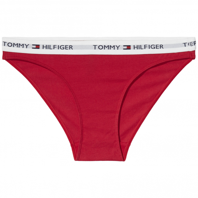 Tommy Hilfiger Cotton Bikini - Crimson