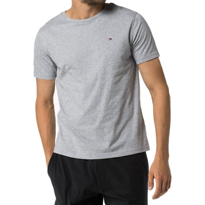 Tommy Hilfiger Cotton Icon Short Sleeve T-Shirt - Grey