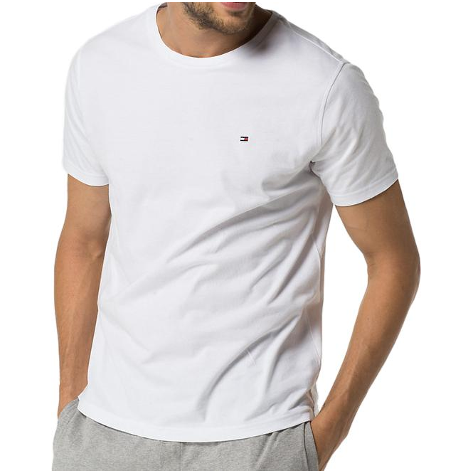 Tommy Hilfiger Cotton Icon Short Sleeve T-Shirt - White