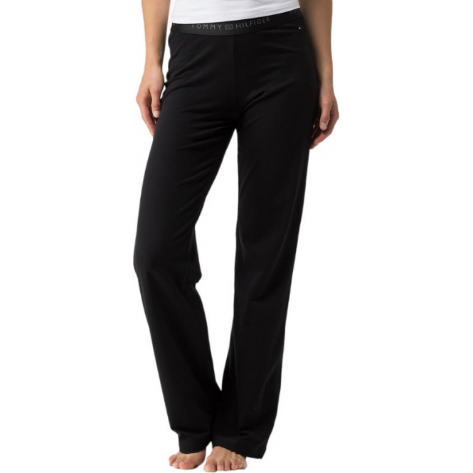 Tommy Hilfiger Cotton Iconic Long Pant - Black