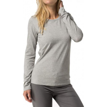 Cotton Iconic Long Sleeve T-Shirt - Grey