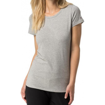 Cotton Iconic Short Sleeve T-Shirt - Grey