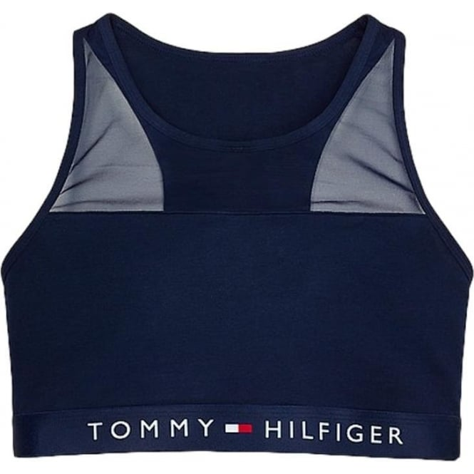 Tommy Hilfiger Cotton Mesh Bralette - Navy
