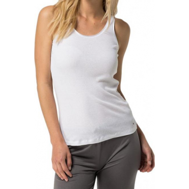 Cotton Modal Tank Top - White