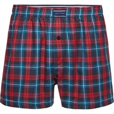 Heritage Check Woven Boxer Short - Red/Blue