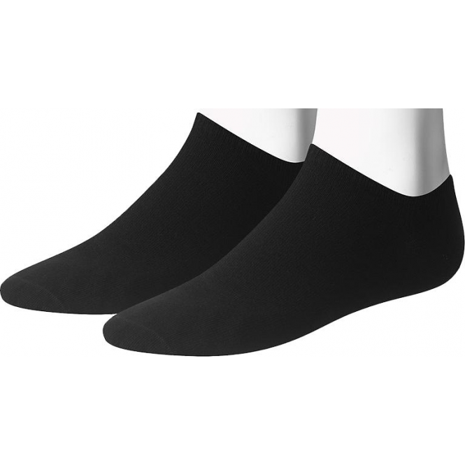 Tommy Hilfiger Mens Trainer Sneaker Socks 2 Pack Black