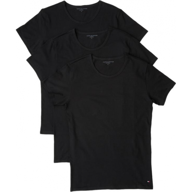 Tommy Hilfiger Premium Essential Crew Neck T-shirt 3 Pack - Black