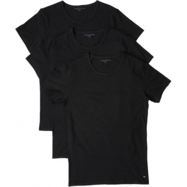 Premium Essential Crew Neck T-shirt 3 Pack - Black