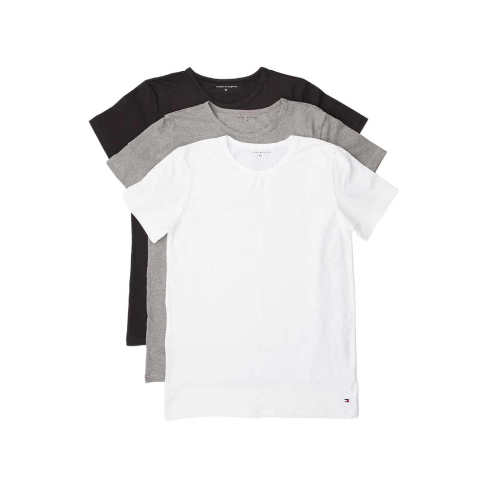 bf47d12e Tommy Hilfiger Premium Essential Crew Neck T-shirt 3 Pack - Black ...