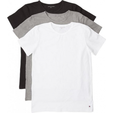 Premium Essential Crew Neck T-shirt 3 Pack - Black/White/Grey
