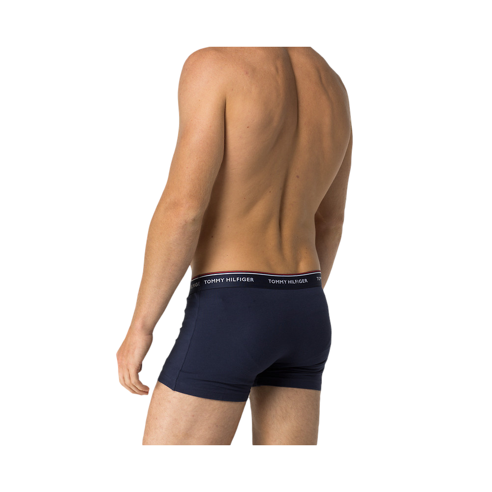 Stretch Trunks In 3 Pack - Navy Tommy Hilfiger