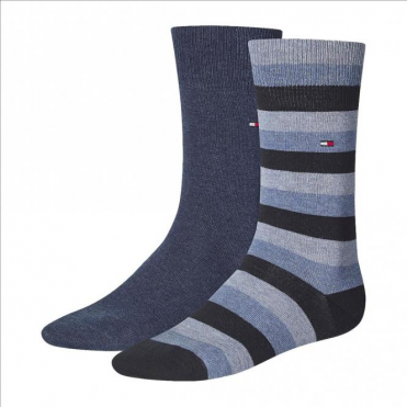 Regency Striped Socks 2-Pack Tommy Casual Denim