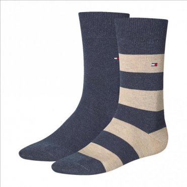 Rugby Striped Socks 2-Pack Mid Summer