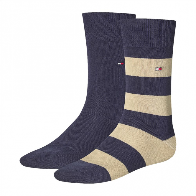 Tommy Hilfiger Rugby Striped Socks 2-Pack Modern Prep