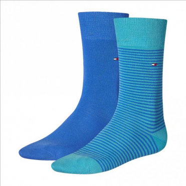 Striped Socks 2-Pack Lake Blue