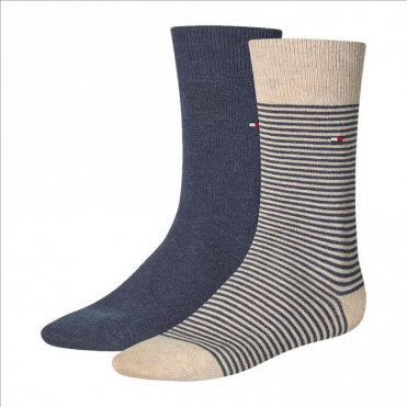 Striped Socks 2-Pack Mid Summer Beige