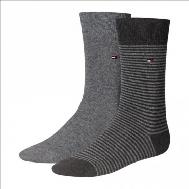 Striped Socks 2-Pack Middle Grey Melange