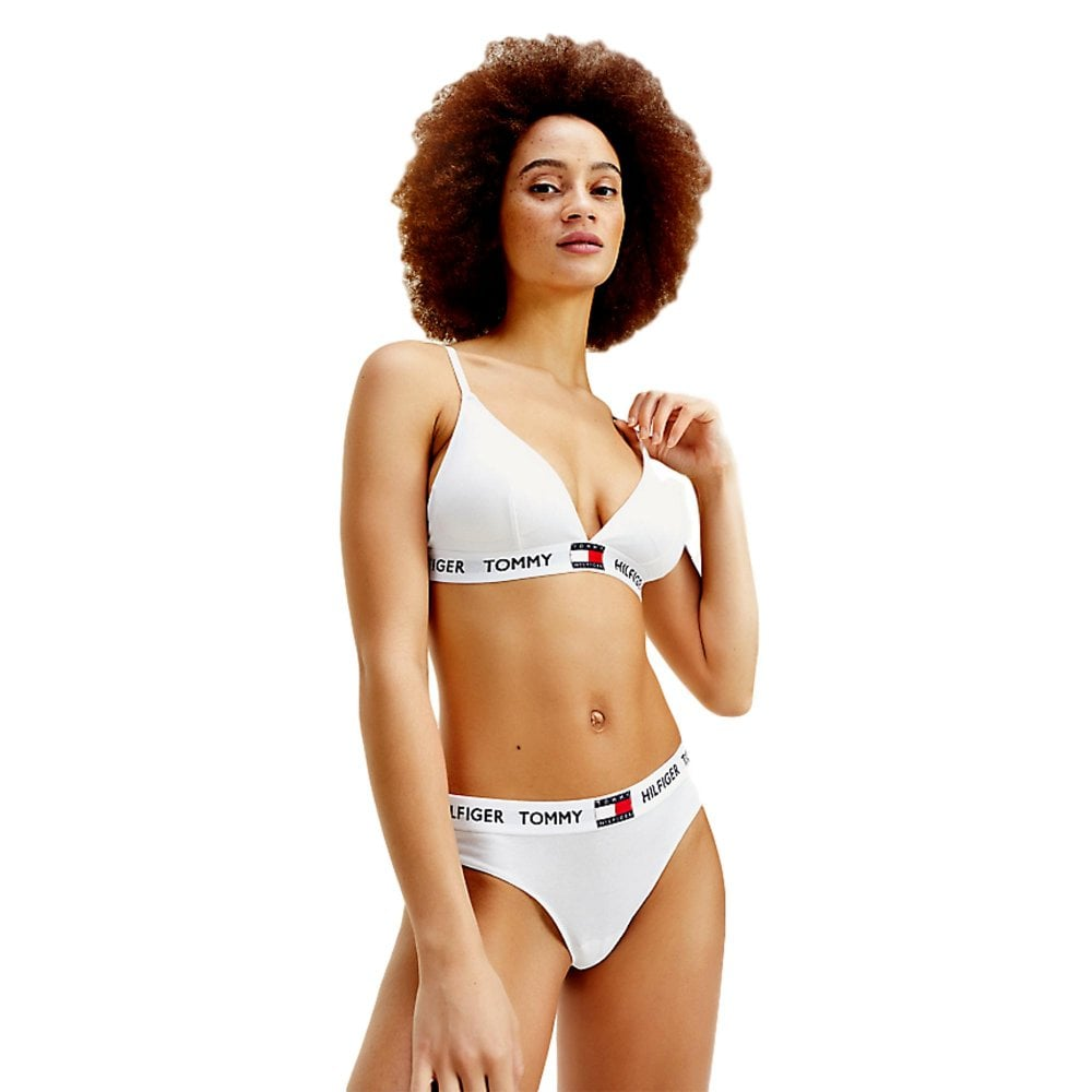 Tommy Hilfiger Tommy 85 Cotton Bralette PVH Classic White
