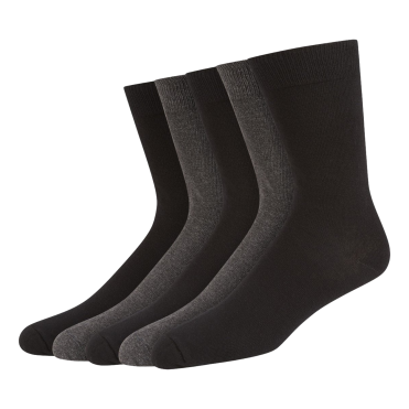 5 Pack Cotton Rich Socks - Black/Charcoal