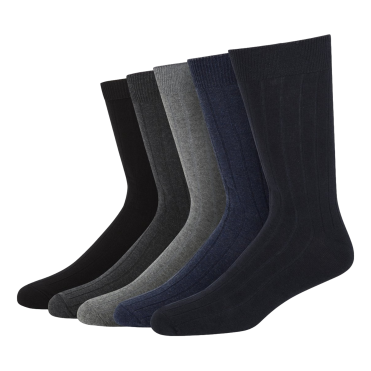 CITY 5 Pack Cotton Rib Sock