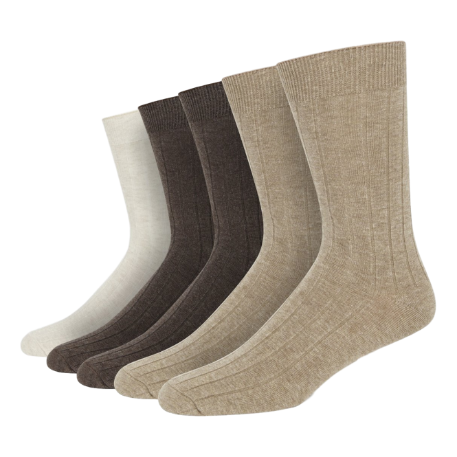 Wolsey Neutral 5 Pack Cotton Rib Sock