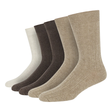 Neutral 5 Pack Cotton Rib Sock