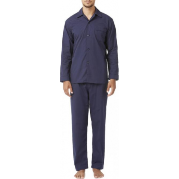 Soft Cotton Pyjama Set Navy